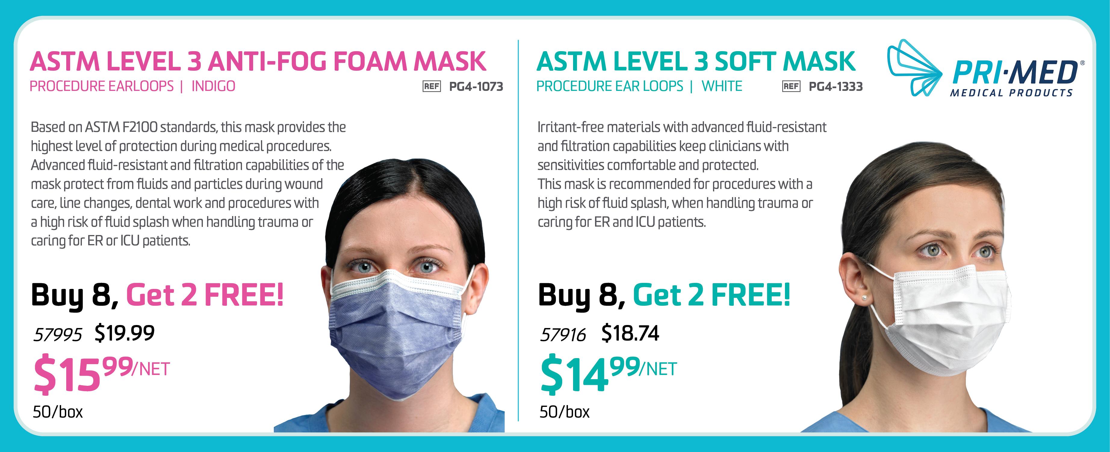 Pri-Med Anti-Fog Mask - JUNE 2021