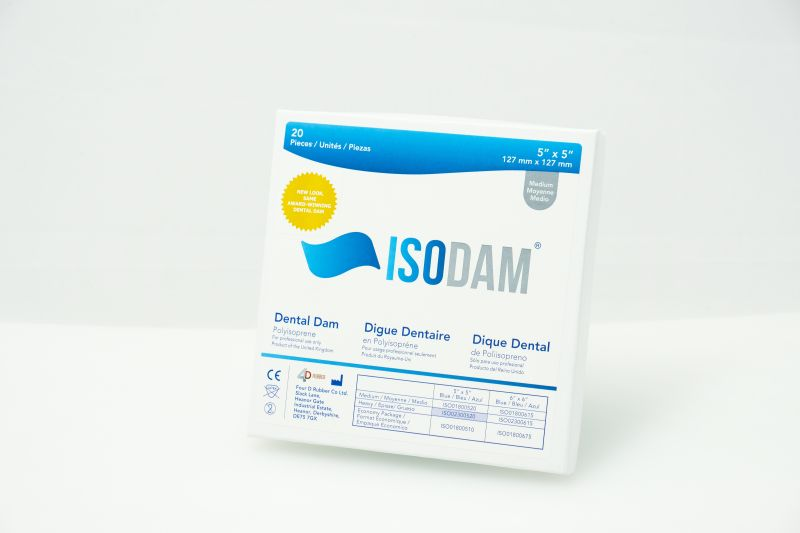 4D Rubber, Dental Dam, ISODAM, Non-Latex, 5