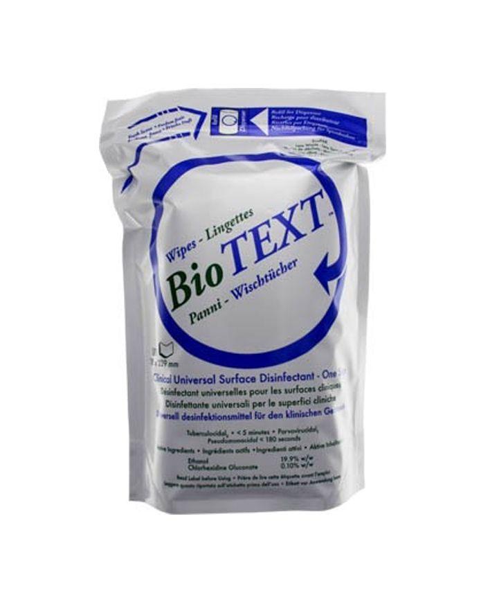 Micrylium, BioText, Euro Wipes, Refill, 16 packs of 50/Cs