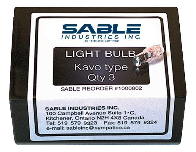 Sable, Bulb, f/KaVo Type Coupler, 3/pk