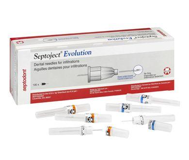 Septodont, Septoject, Needles, 30ga, Short, Blue, 100/Bx
