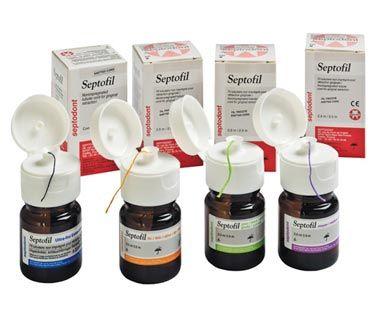Septodont, Septofil, Medium, 0.8mm - 2.5m, Lilac, Bottle