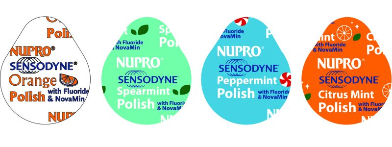 Dpy, PCD, Nupro Sensodyne, Cups, Spearmint, Fine/Medium, 100/Box