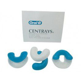 Oral-B, Centrays, Fluoride applicator trays, Disposable, Large, 100/Bag