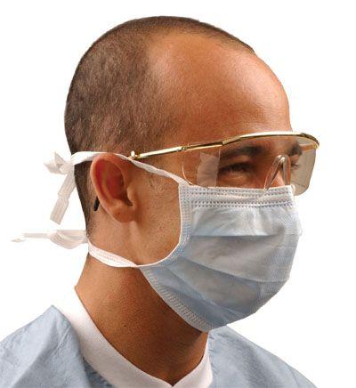 Crosstex, Mask, Surgical TieOn, Level 2, Blue, 50/box
