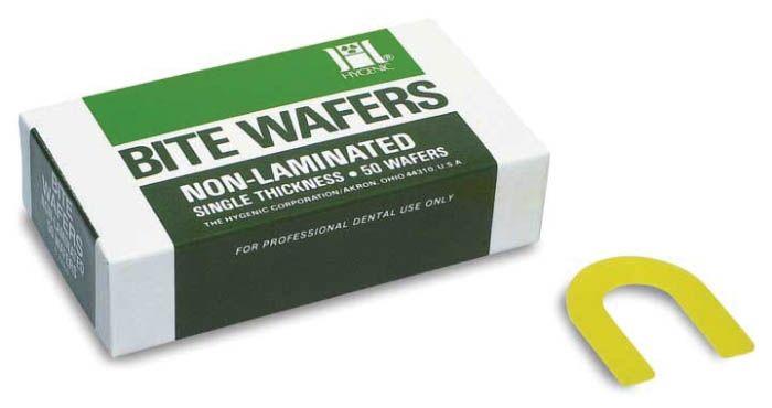 Hygenic, Bite Wafers, Non-Laminated, Yellow Lemon, 50/box