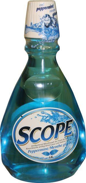 Sun, Scope, Mouthwash, Classic Cool Peppermint, 1 liter
