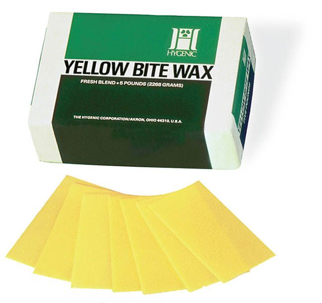 Hygenic, Wax, Bite, Yellow, 5lbs