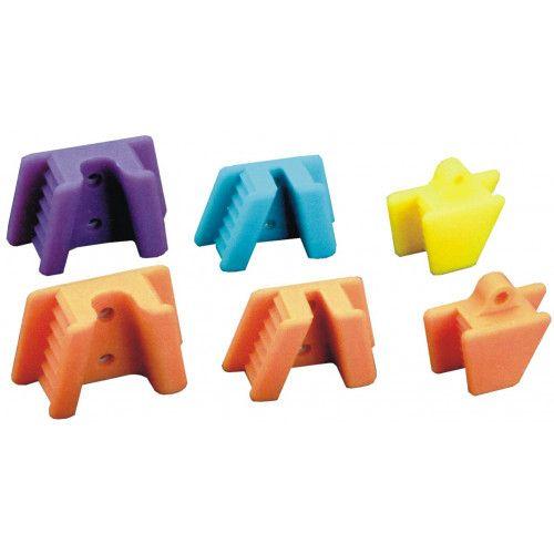 Plasdent, Mouth Props, Silicone, EXTND, Medium/Child, Orange-Yellow, 2/box