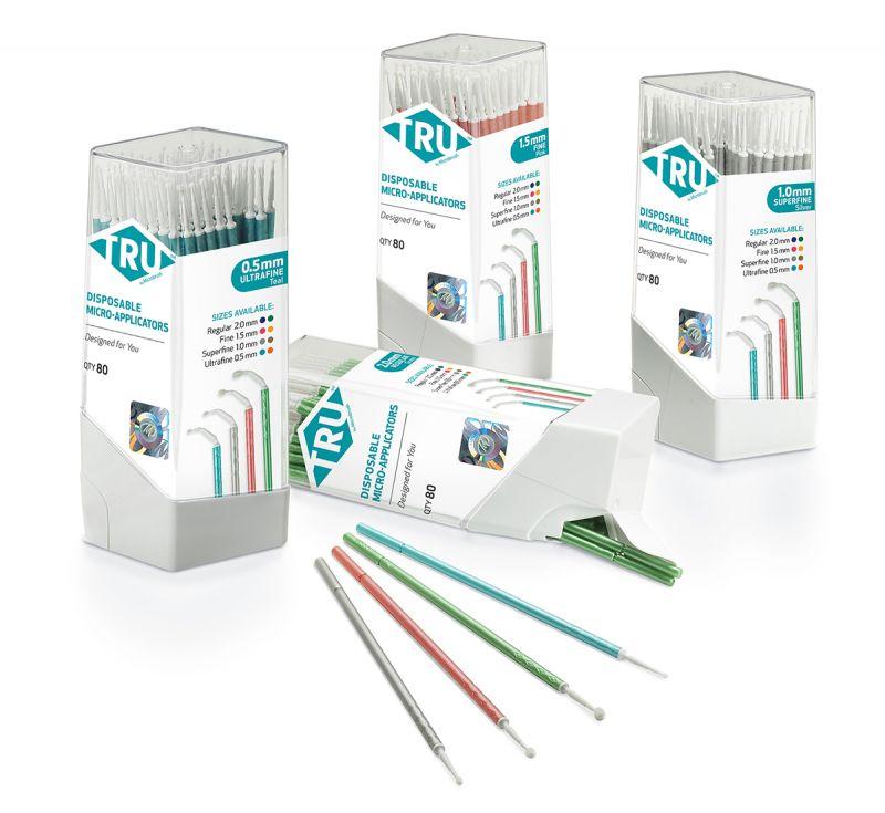 Microbrush, TRU, Tube, Ultra Fine, Orange, 12cm, 80 Applicators/Tube