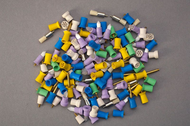 Waterpik, Prophy Cups, Densco®, Screw-in, Soft, Blue, Ribbed/webbed, 1000/bag