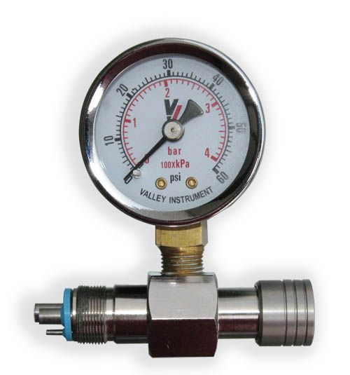 Dci, Gauge, Handpiece pressure, 0-60 PSI, 5-hole Midwest style connector
