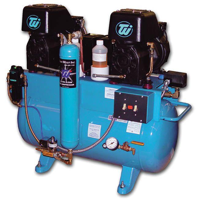 Tech, Compressor, Twin 1 H.P., Oil-type, w/Dryer, Copeland head, 230V