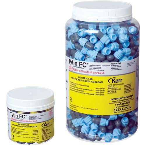 Kerr, Tytin FC, 2 Spill, 600mg, Fast set, Light gray/yellow, BULK, 500/jar