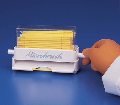 Microbrush, Microbrush Plus, Dispenser, with Fine size refill, 400/pkg