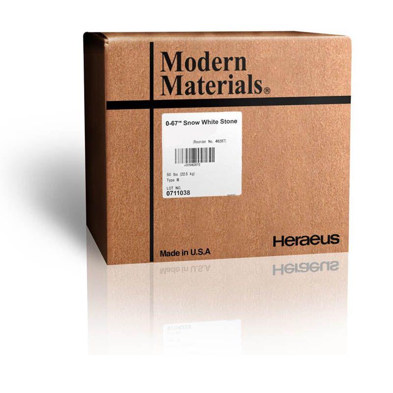 Kulzer, Modern materials, Stone, Snow White, Ortho, 0-67, 45lb