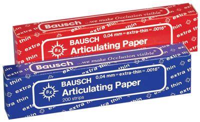 Bausch, Art. Paper, BK-09, Extra thin, Blue, 40u/.0016