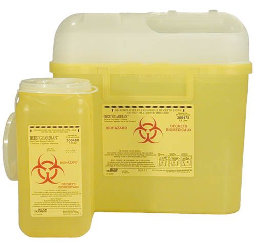 Becton, Sharps Collect, Guardian 1.4l, Yellow