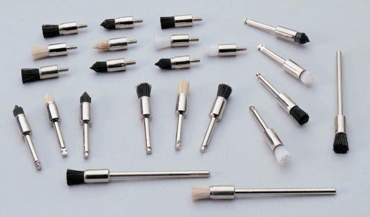 Rinn, Prophy brushes, Crescent, RA, Latch, Pointed, Black, Nylon, 36/bag