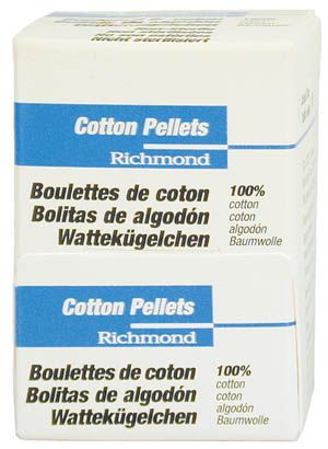 Richmond, Cotton pellets, Size #4, 3000/box