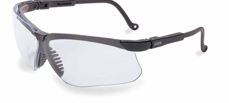 Glasses, Uvex, Genesis, Black frame with Clear UVextreme lense