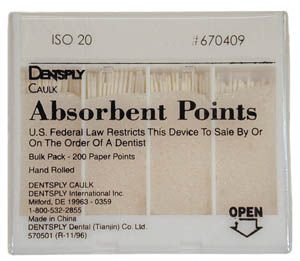 Maillefer, Paper Points, Acc, X-Fine, 200/box