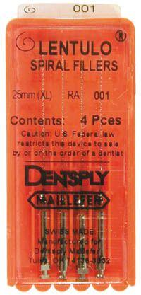Maillefer, Lentulo Paste Fill, 25mm RA, #4, 4/pkg