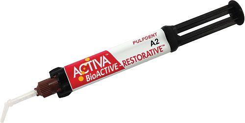 Pulpdent, Activa, Value Refill, A2, 2 - 5ml/8g Syringe + 20 Mixing Tips