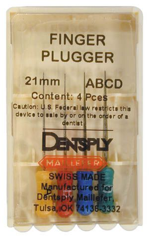 Maillefer, Finger plugger, 21mm, #20-35, Assorted, 4/pkg