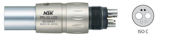 Nsk, Coupler, Ti-Max, PTL-CL-FV-T, ISO B, f/Midwest 5-hole Fibre Optic tubing