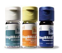 Kerr, Gingibraid+, Aluminum, #1A, Small: yellow w/purple strand