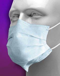 Crosstex, Mask, SecureFit, Procedural, Fluid Resistant, Earloop, Pink, 50/box