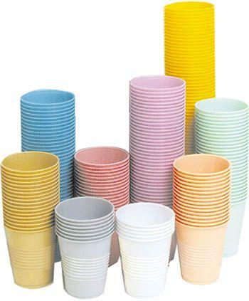 Crosstex, Plastic Cups, Beige, 5oz., 1000/box