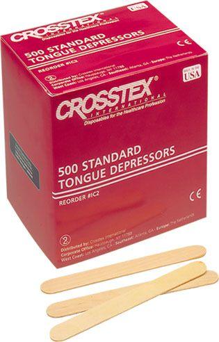Crosstex, Tongue Depressors, 500/box