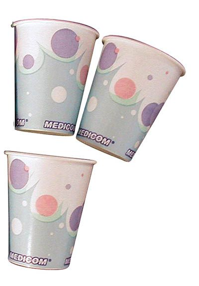Medicom, Paper Cups, Bubbles, 4oz, 1000/case