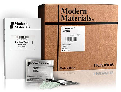 Kulzer, Modern materials, Stone, Die-Keen, Green, 45lb