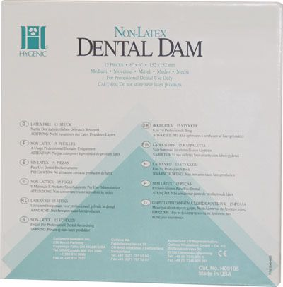 Hygenic, Dental Dam, Non-Latex, 6
