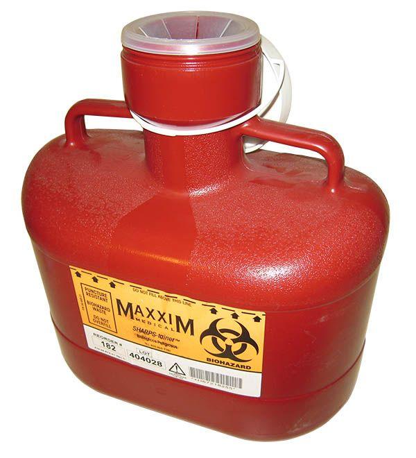 Mcc, Sharps Container, Red, 6.2 quart