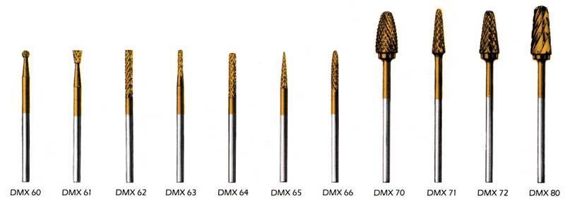 Miltex, Bur, Lab, Diamond cut, Carbide B, #62, DMX62