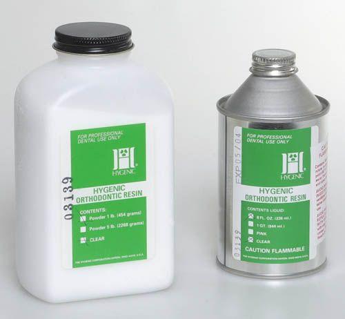 Hygenic, Orthodontic Resin, Pink, 450g/Powder, 236ml/Liquid