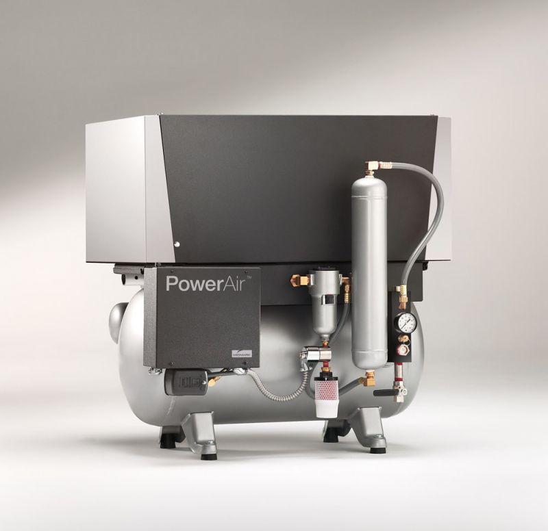 Midmark, Compressor, PowerAir, Oilless, Twin head, 1.5 h/p, 120V, P21