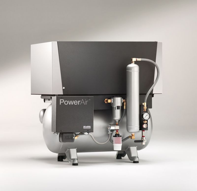 Midmark, Compressor, PowerAir, Oilless, Twin head, 1.5 h/p, 220V, P22