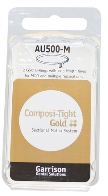 Garrison, Composi-Tight, Gold, G-Rings, Long Length, AU500, 3/pk