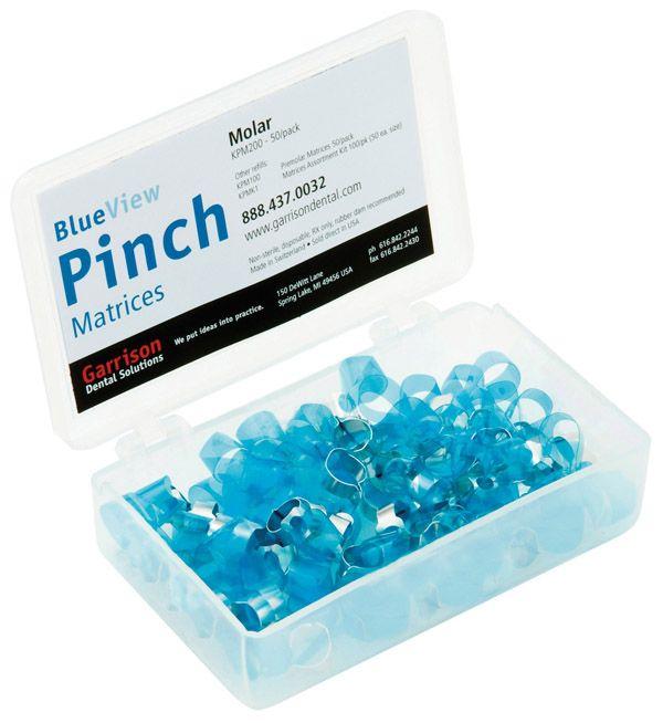 Garrison, Blue View, Pinch Matrices, Premolar, KPM100, 50/pkg