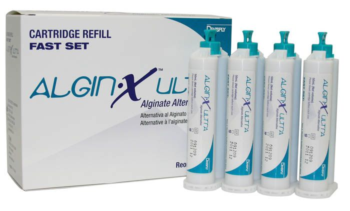 Caulk, Algin-X Ultra, Refill, 4 - 50ml Cartridges, w/6 Mix tips (Teal hub)