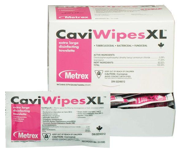 Metrex, CaviWipes, XL, 50 individual packets/box