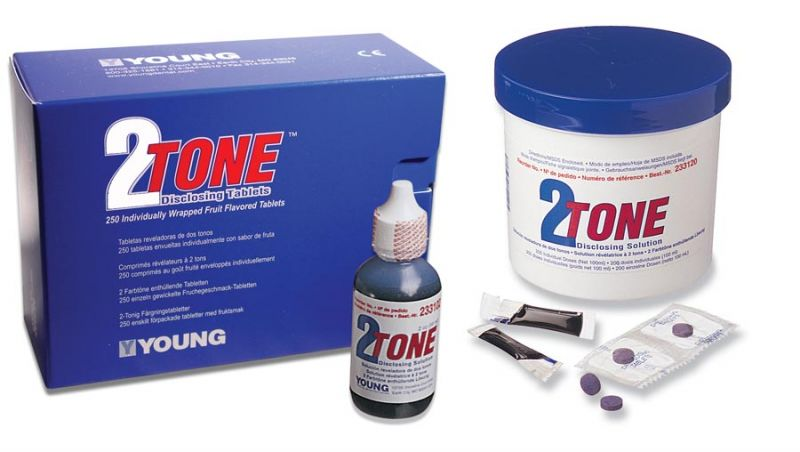 Young, Disclosing Solution, 2-Tone, 2oz bottle