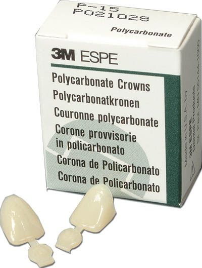 3M, Crown, Poly, Short Lower Anterior, 68, 5/box