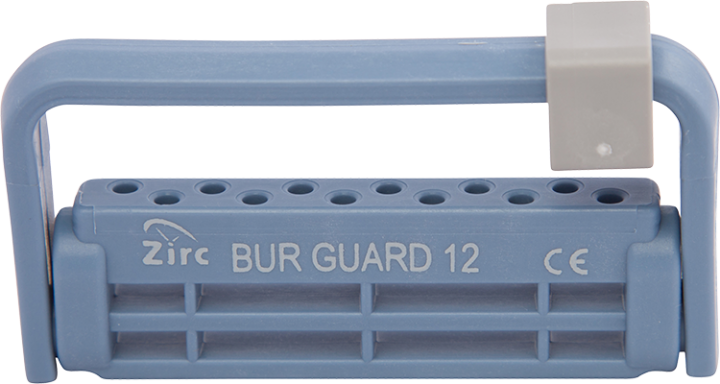 Zirc, Steri-Bur block system, Blue, 12 Hole