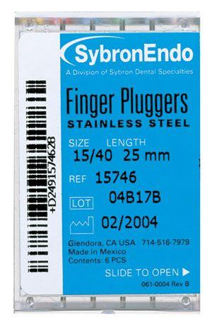 SybronEndo, Finger Plugger, 21mm, #40, Black, 6/pkg